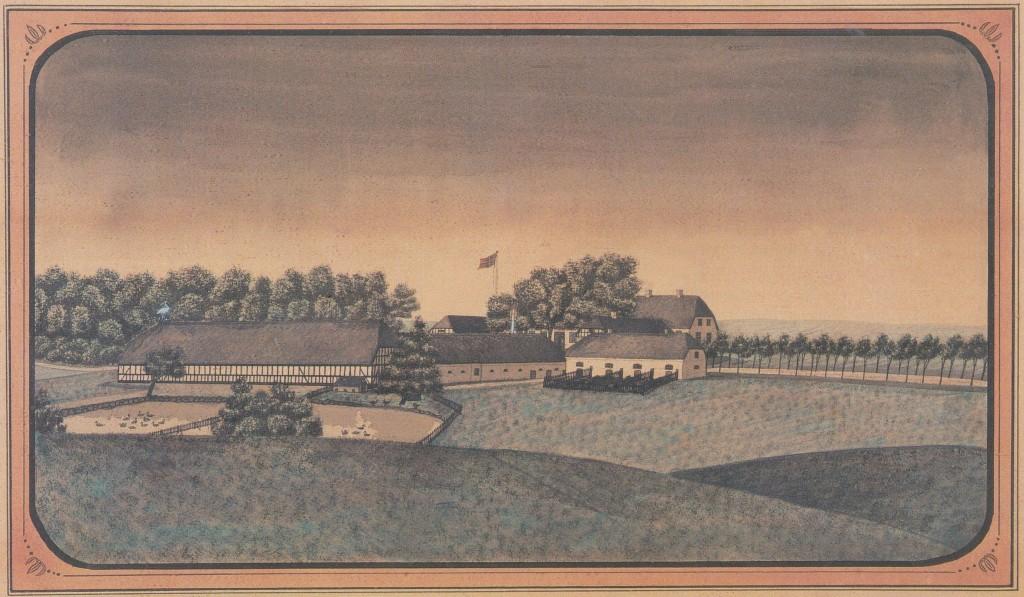 Maleri af Hovedgaard
